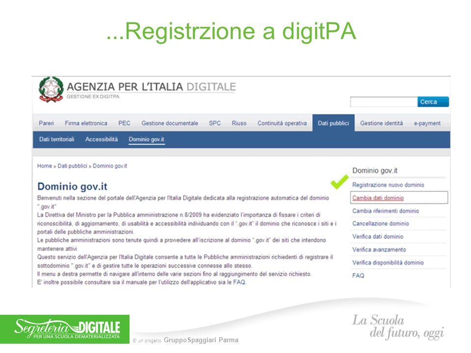 ...Registrzione a digitPA