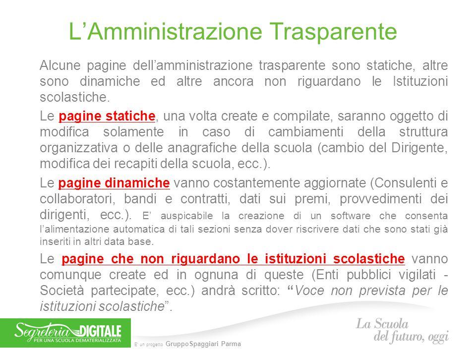 L'Amministrazione Trasparente