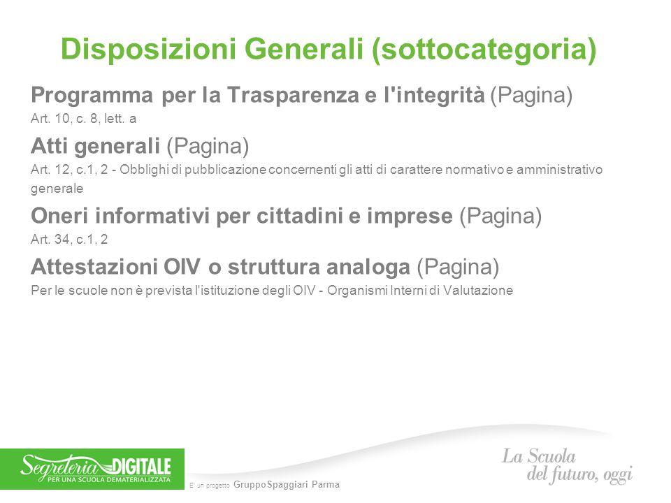 Disposizioni Generali (sottocategoria)