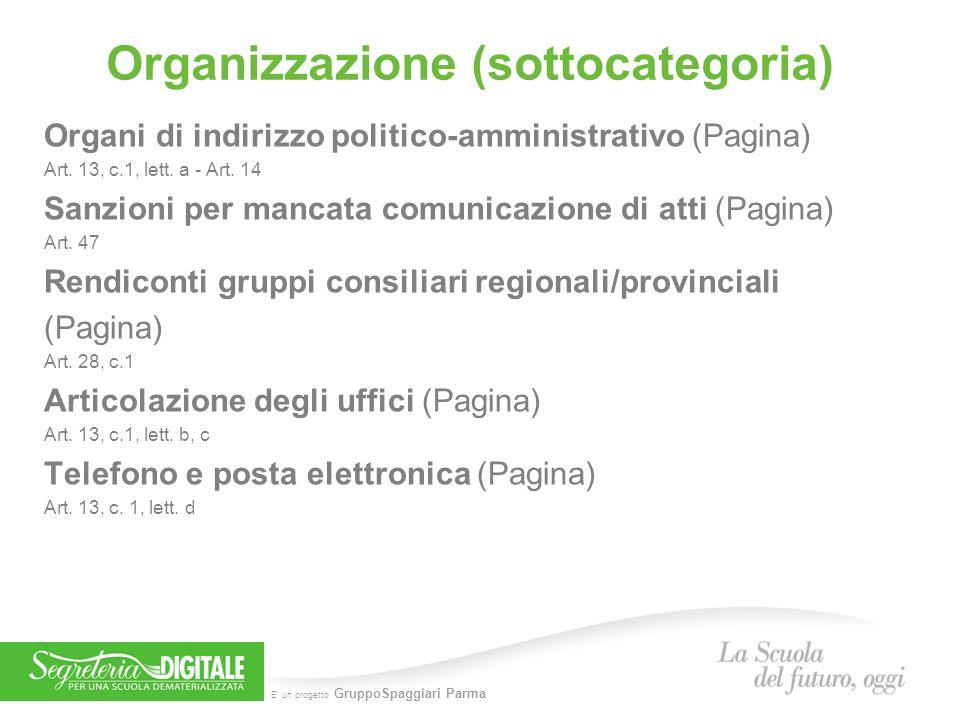 Organizzazione (sottocategoria)