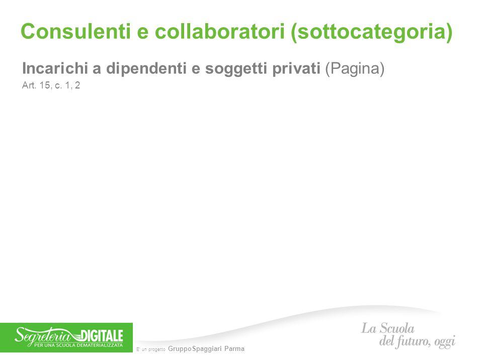 Consulenti e collaboratori (sottocategoria)