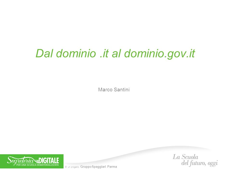 Dal dominio .it al dominio.gov.it