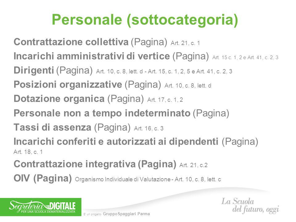 Personale (sottocategoria)