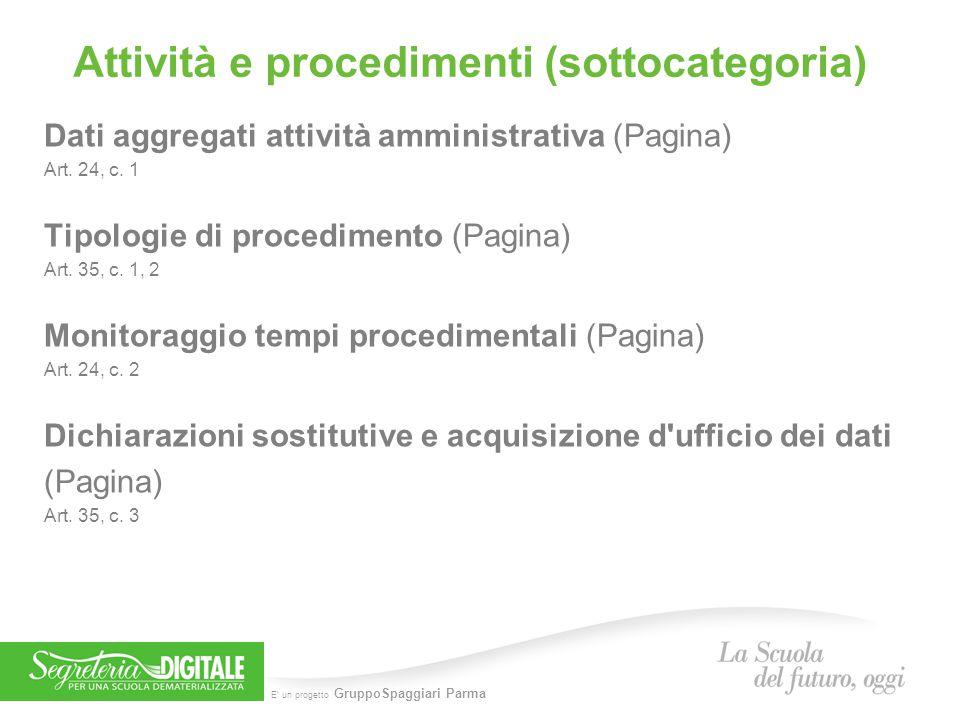 Attività e procedimenti (sottocategoria)