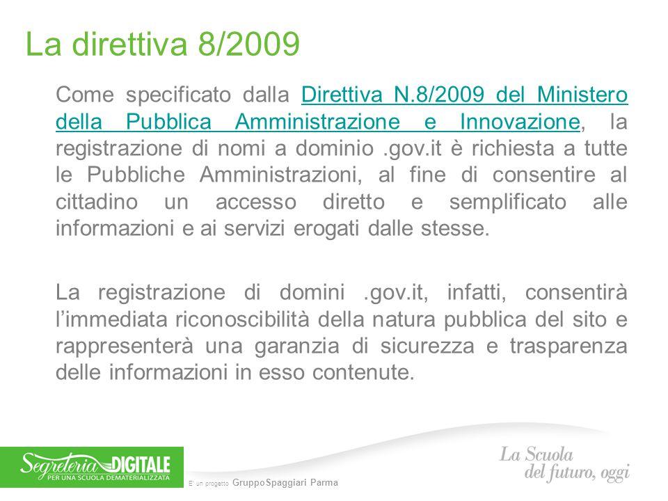 La direttiva 8/2009