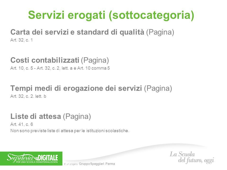 Servizi erogati (sottocategoria)