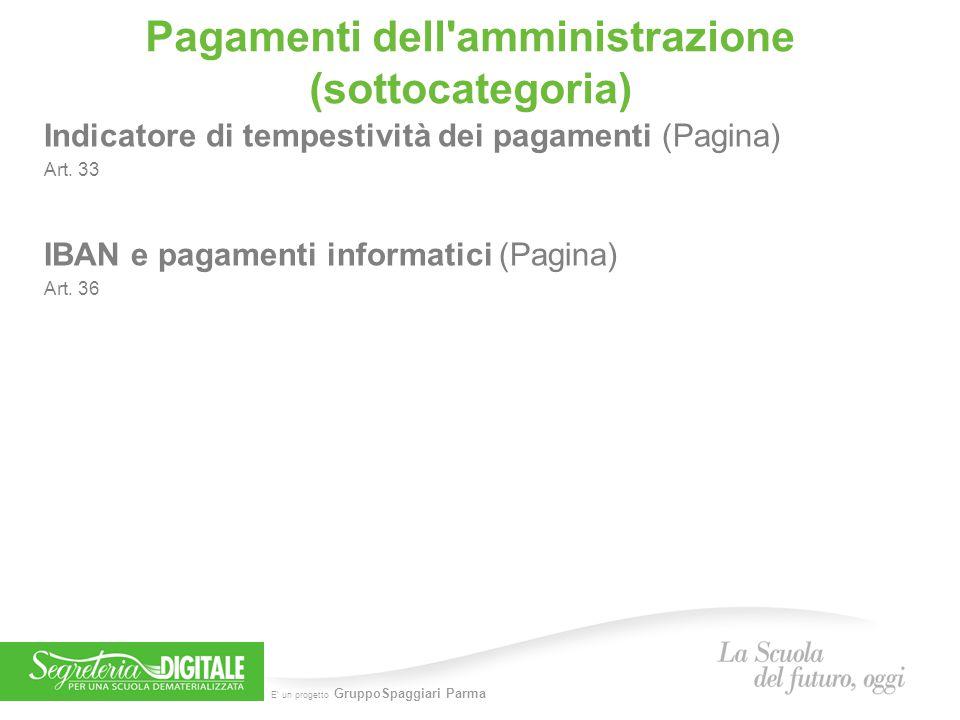 Pagamenti dell amministrazione (sottocategoria)