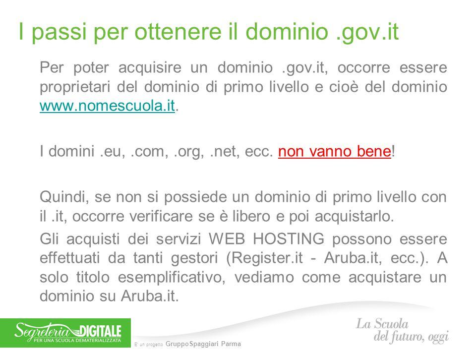 I passi per ottenere il dominio .gov.it