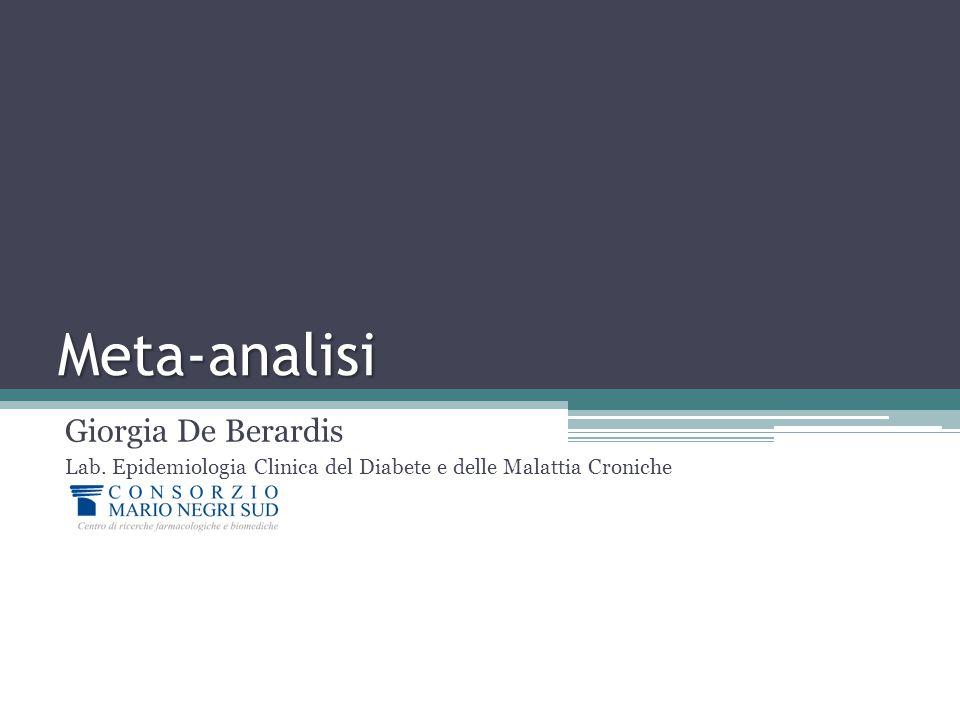Meta-analisi Giorgia De Berardis