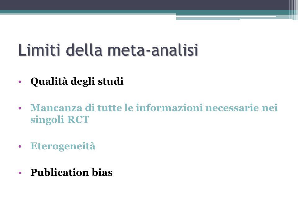 Limiti della meta-analisi