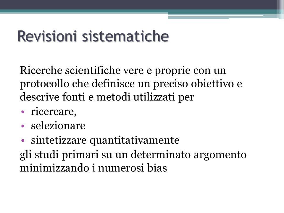 Revisioni sistematiche