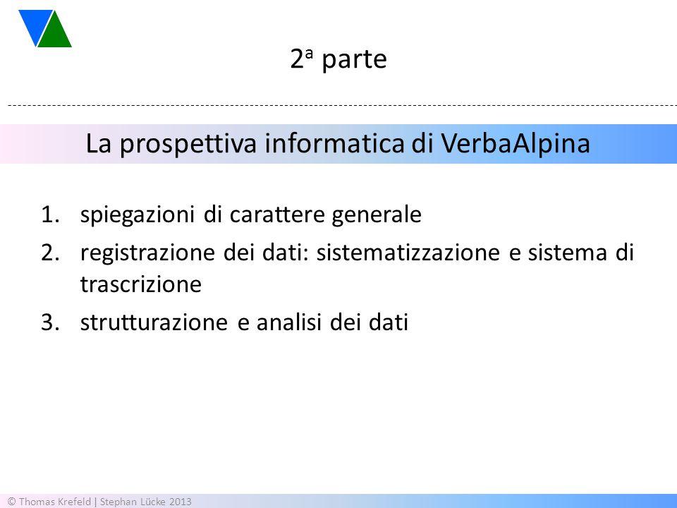 La prospettiva informatica di VerbaAlpina
