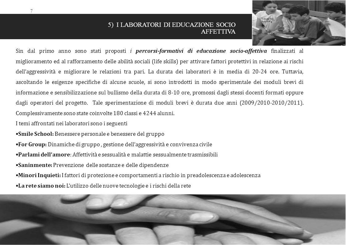 5) I LABORATORI DI EDUCAZIONE SOCIO AFFETTIVA
