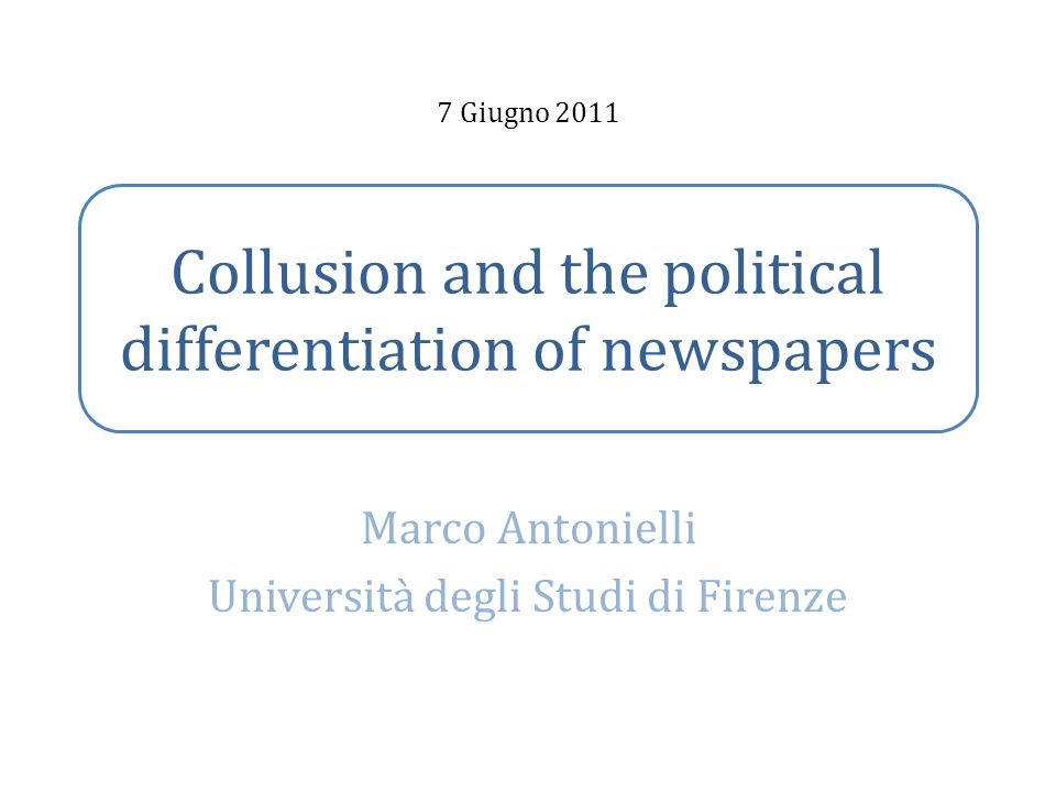 Collusion and the political differentiation of newspapers