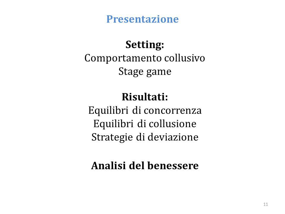 Presentazione Setting: Risultati: Analisi del benessere