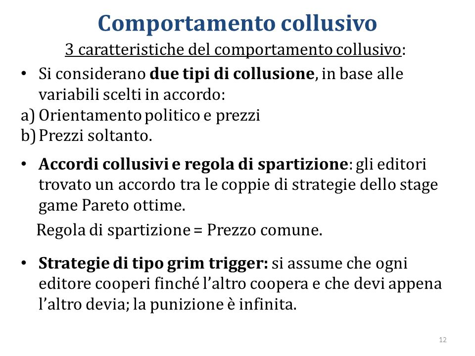 Comportamento collusivo