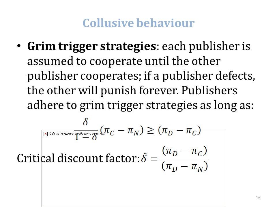 Collusive behaviour