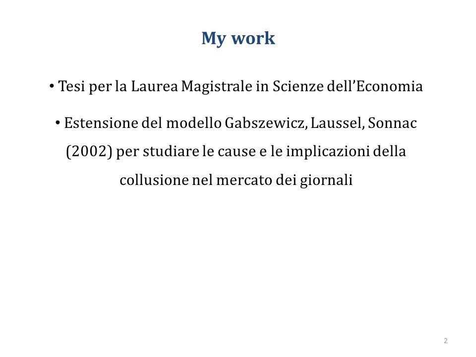 Tesi per la Laurea Magistrale in Scienze dell'Economia