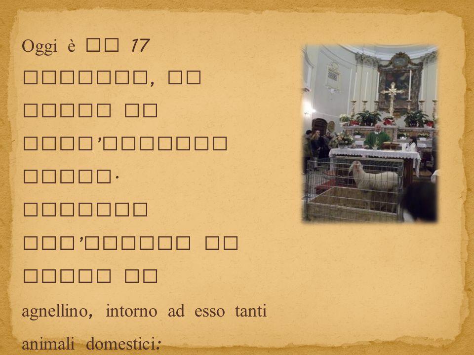Oggi è il 17 Gennaio, la festa di Sant'Antonio Abate.