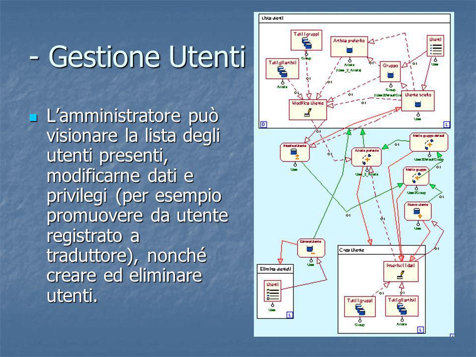 - Gestione Utenti