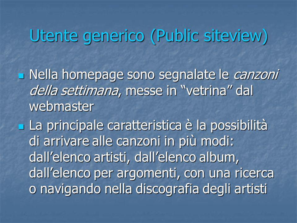Utente generico (Public siteview)