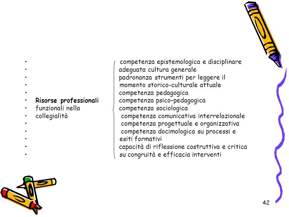competenza epistemologica e disciplinare