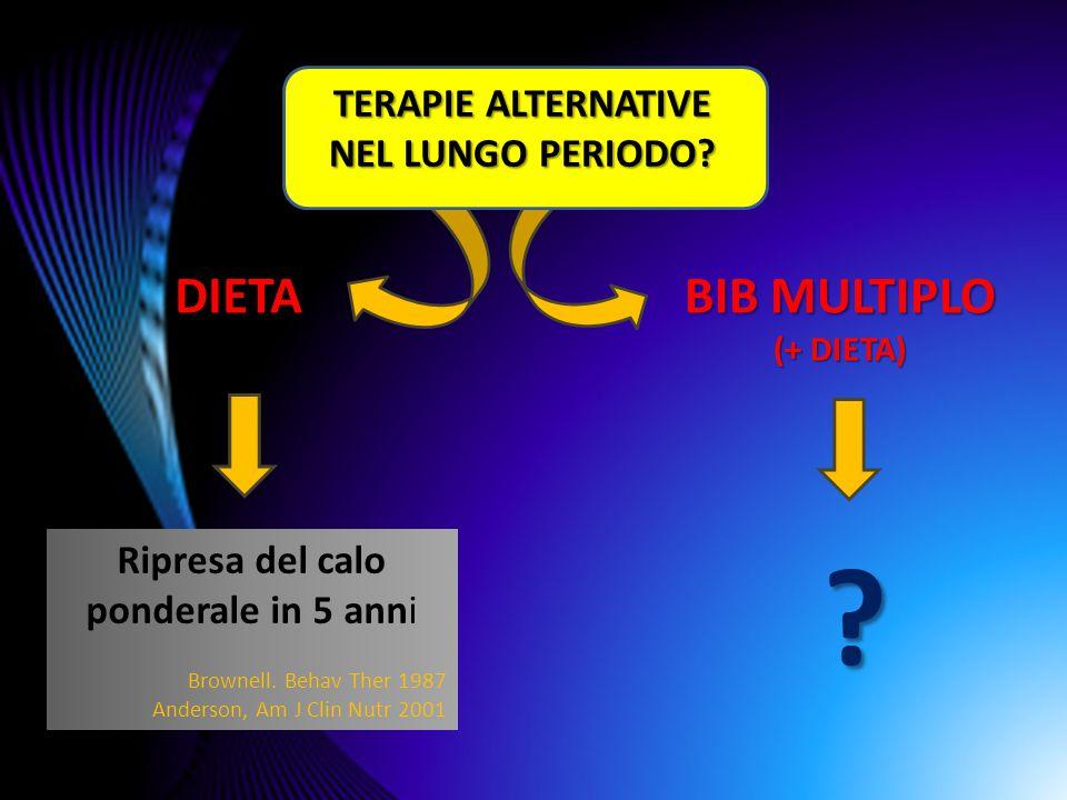TERAPIE ALTERNATIVE NEL LUNGO PERIODO
