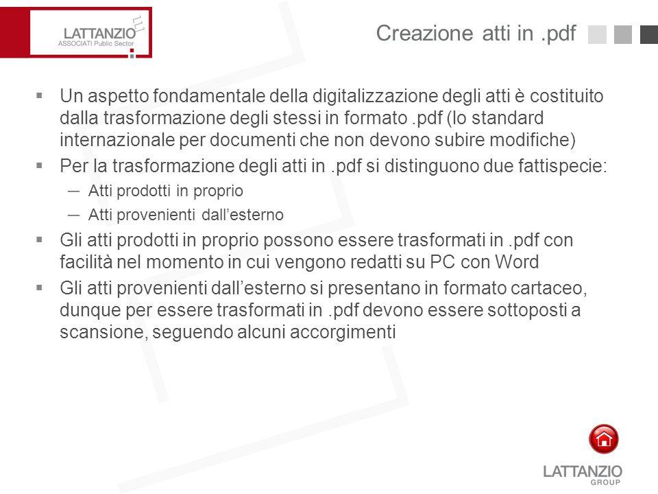 Creazione atti in .pdf