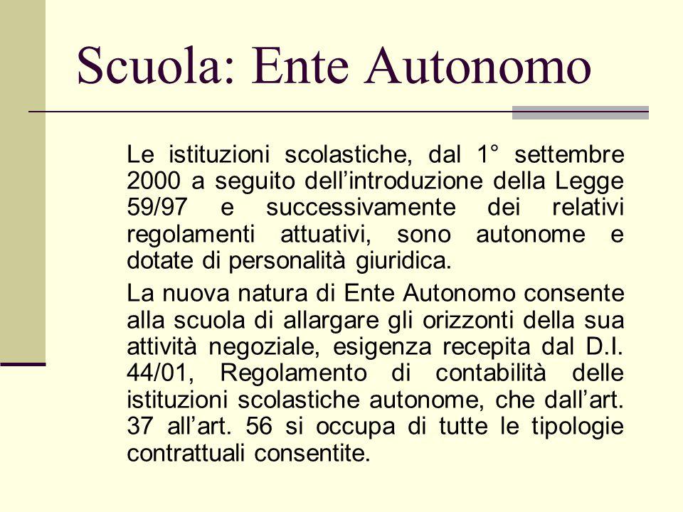 Scuola: Ente Autonomo
