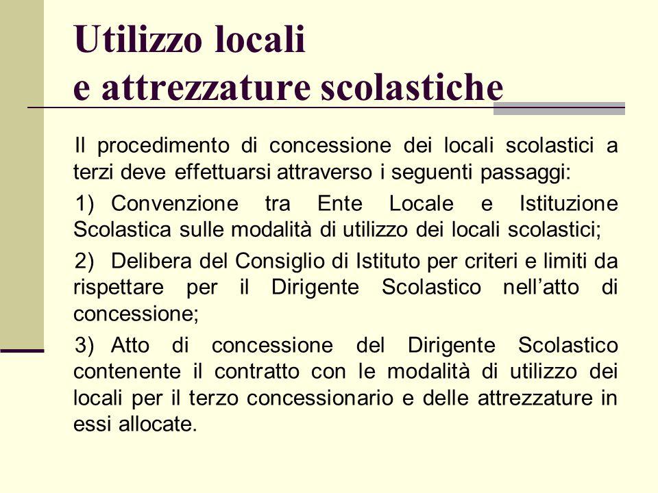 Utilizzo locali e attrezzature scolastiche
