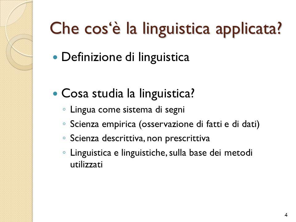 Che cos'è la linguistica applicata