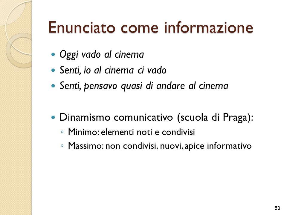 Enunciato come informazione