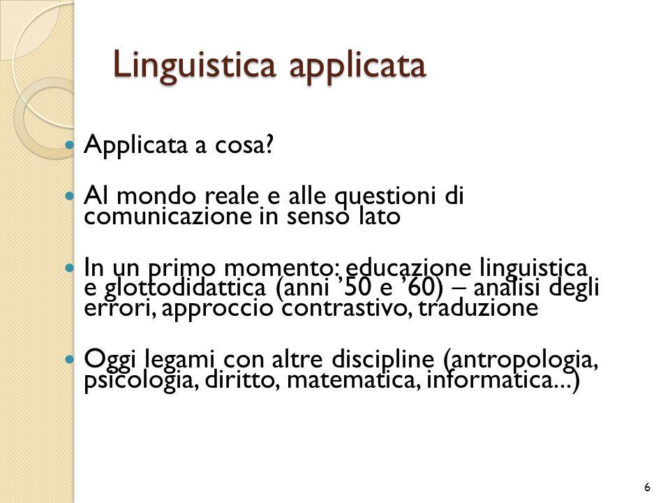 Linguistica applicata