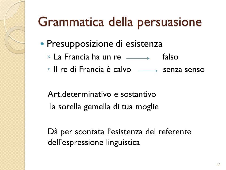 Grammatica della persuasione