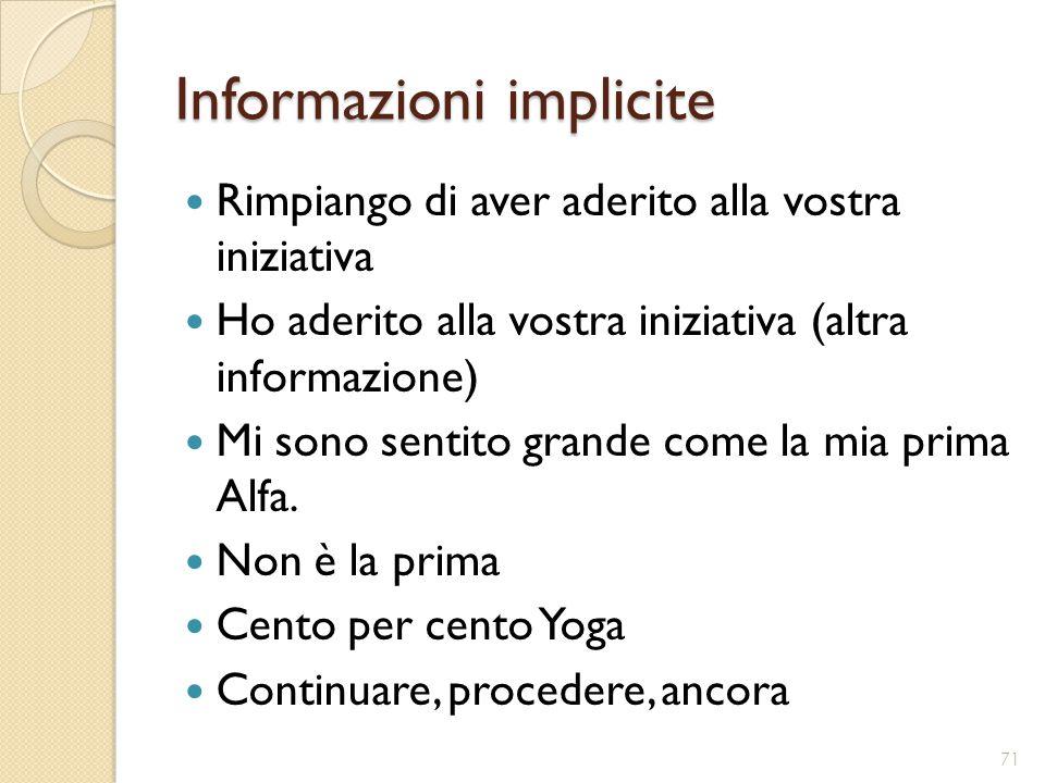 Informazioni implicite