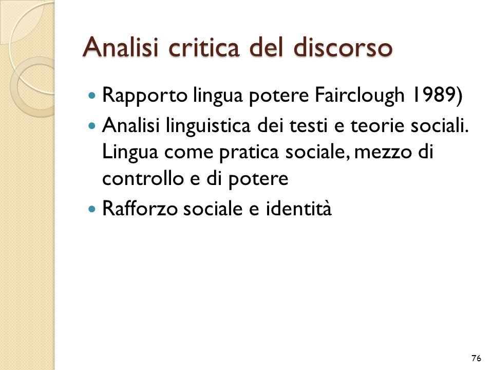 Analisi critica del discorso