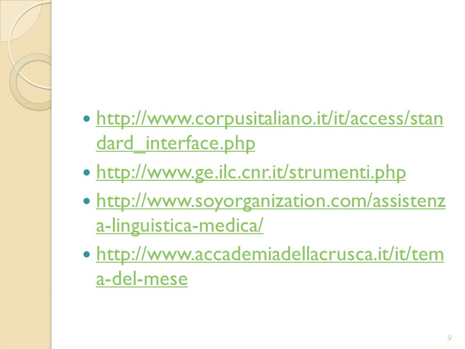 http://www.corpusitaliano.it/it/access/stan dard_interface.php