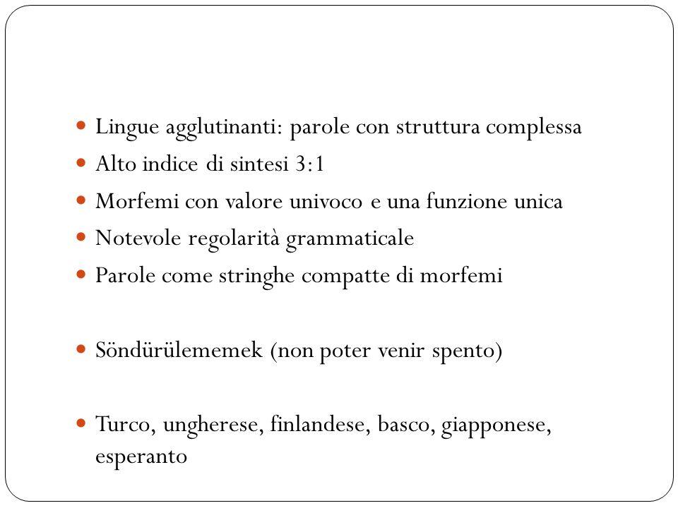 Lingue agglutinanti: parole con struttura complessa