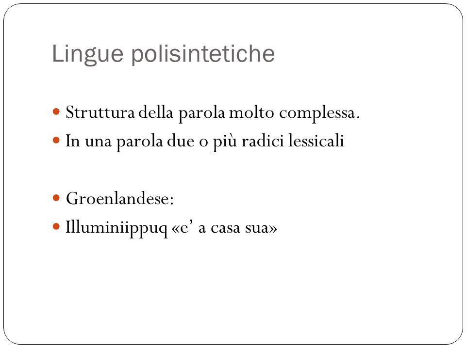 Lingue polisintetiche