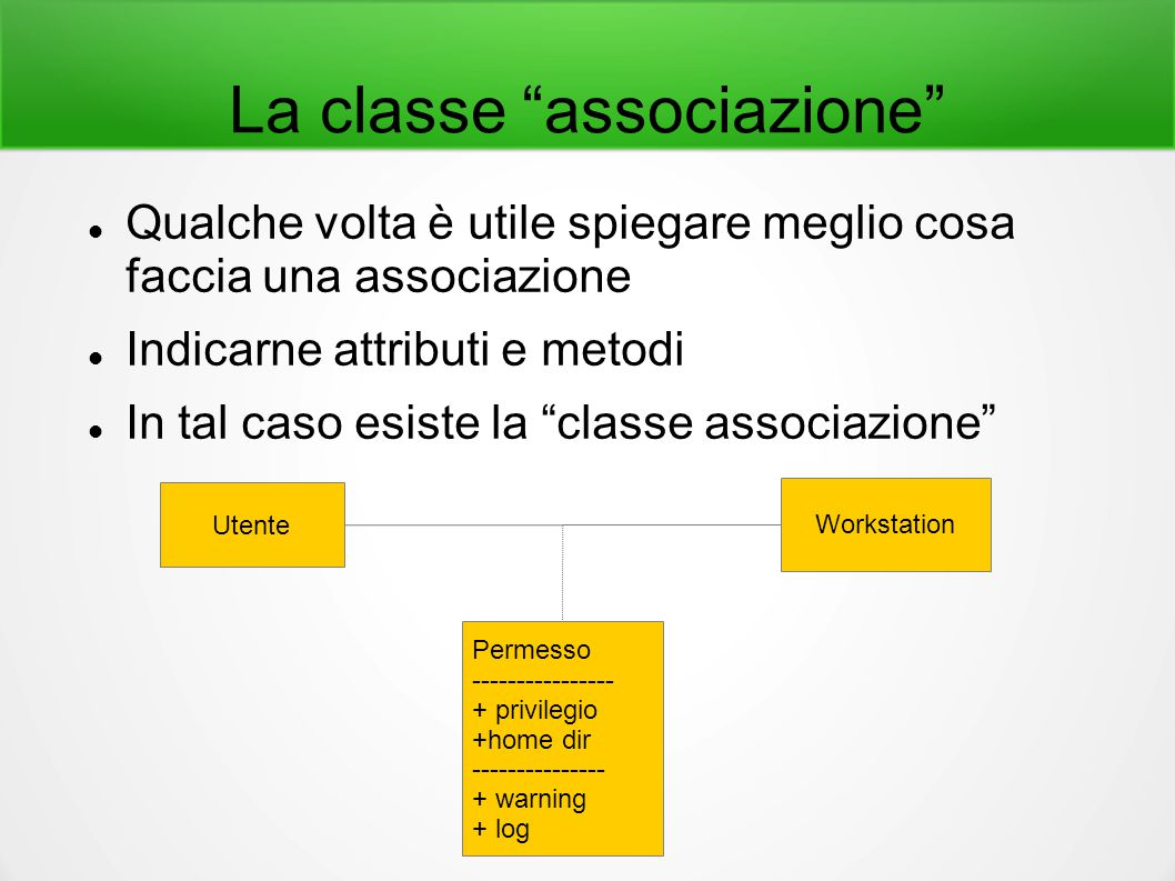 La classe associazione