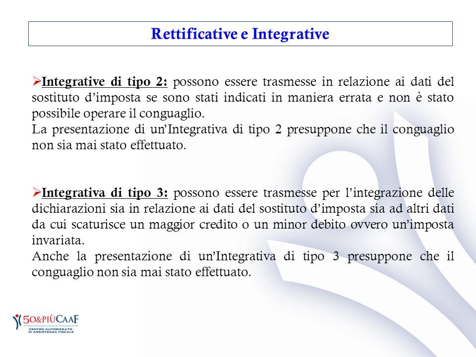 Rettificative e Integrative