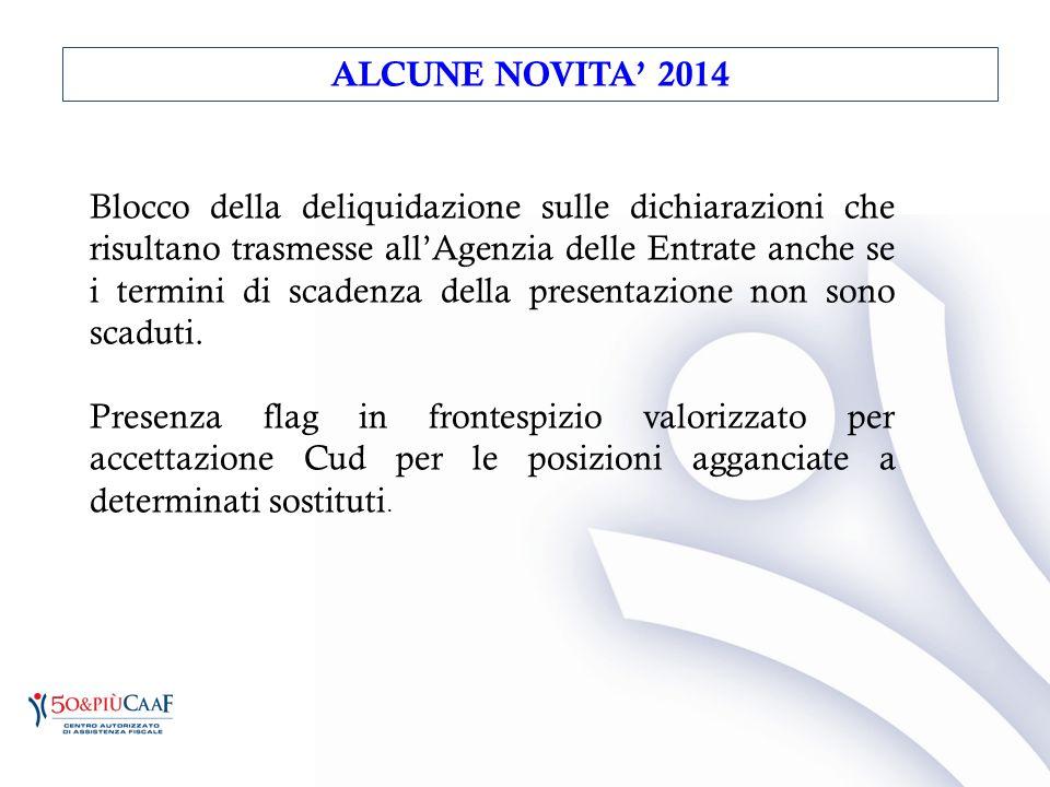 ALCUNE NOVITA' 2014