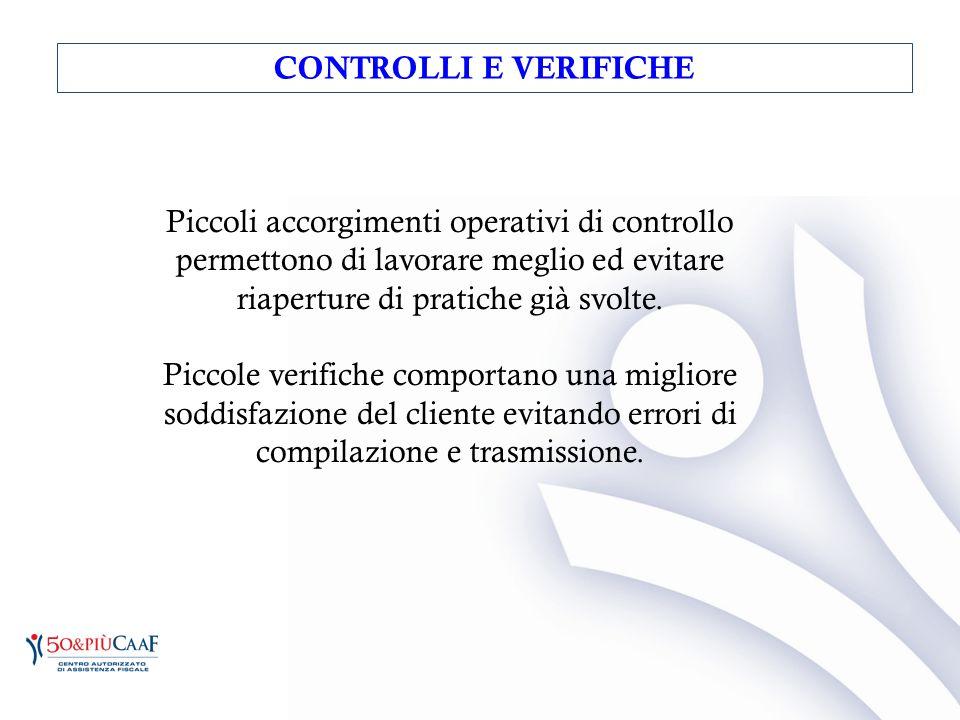 Piccoli accorgimenti operativi di controllo