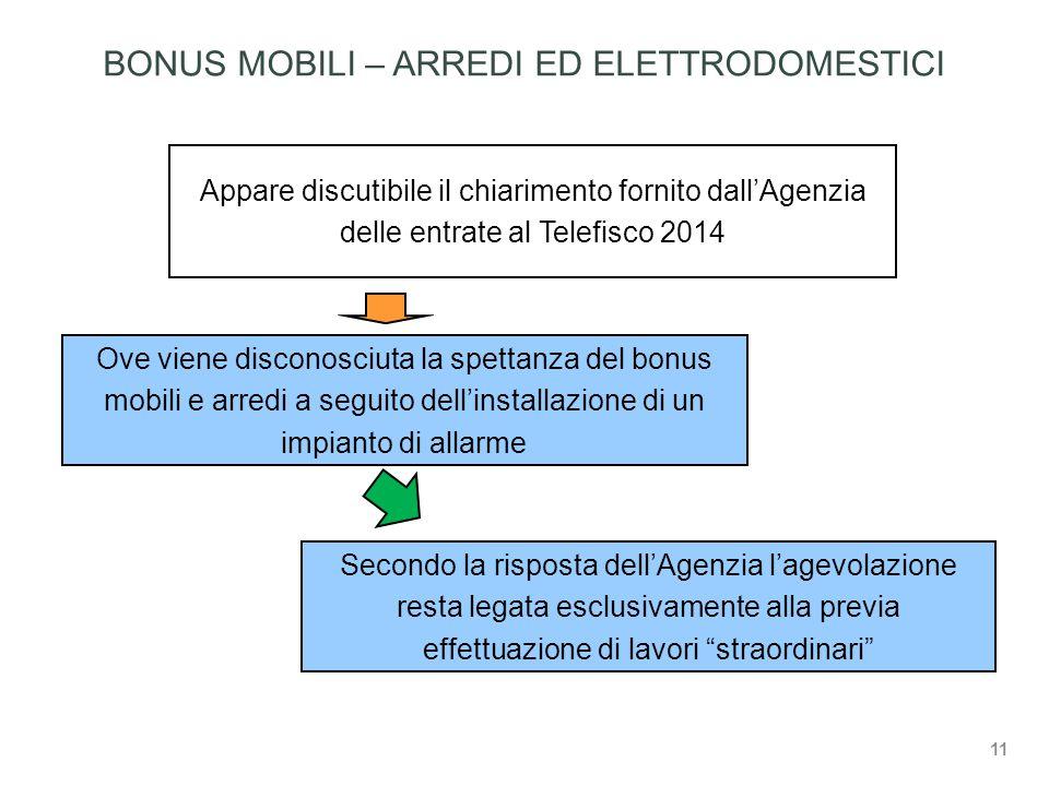 BONUS MOBILI – ARREDI ED ELETTRODOMESTICI