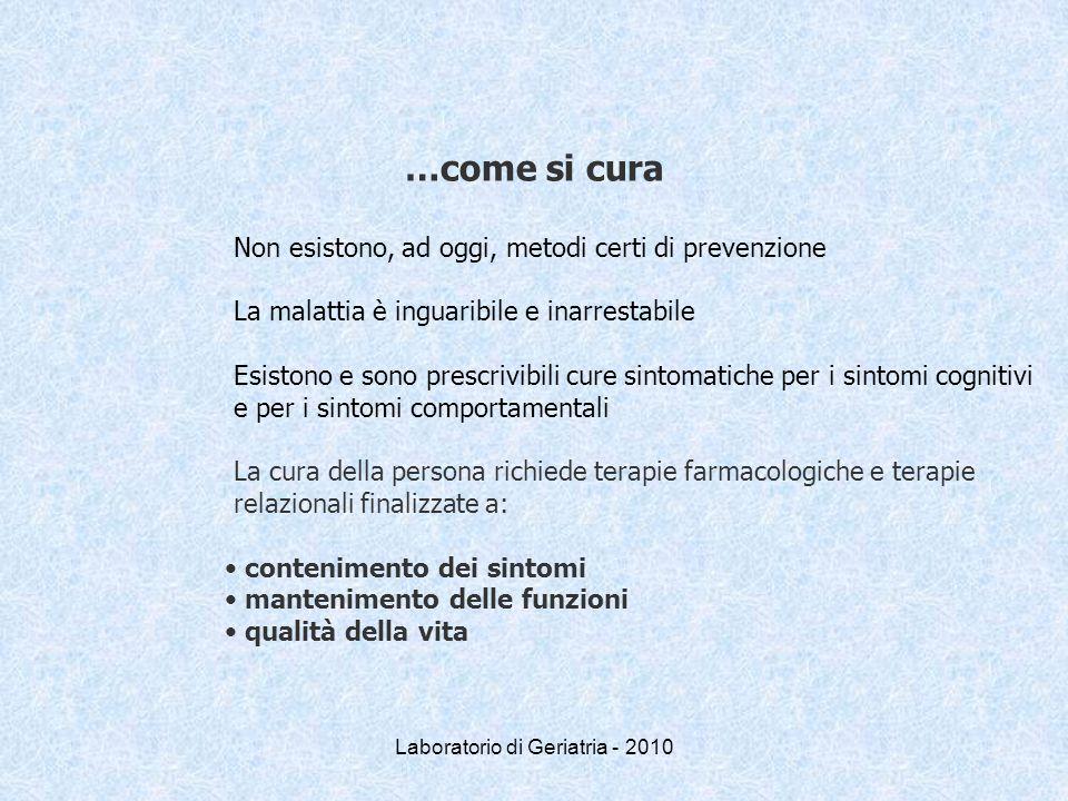Laboratorio di Geriatria - 2010