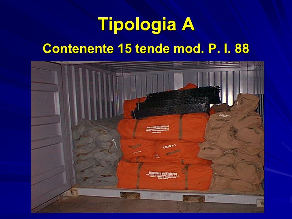 Contenente 15 tende mod. P. I. 88