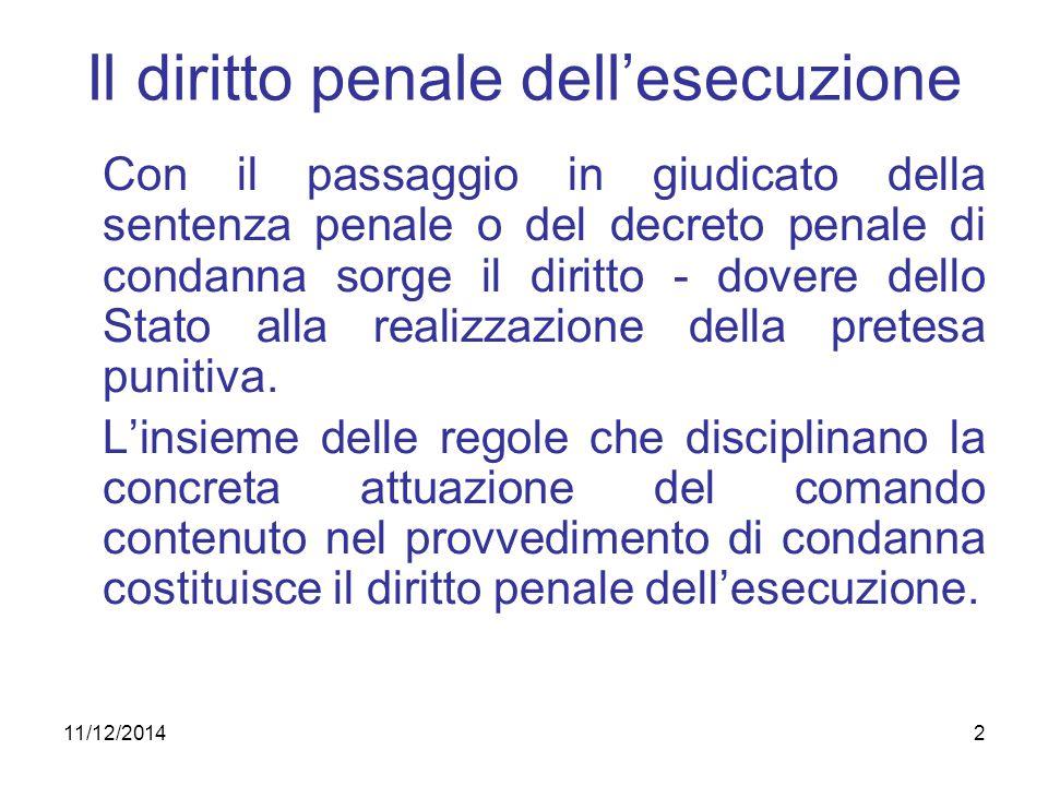 Il diritto penale dell'esecuzione