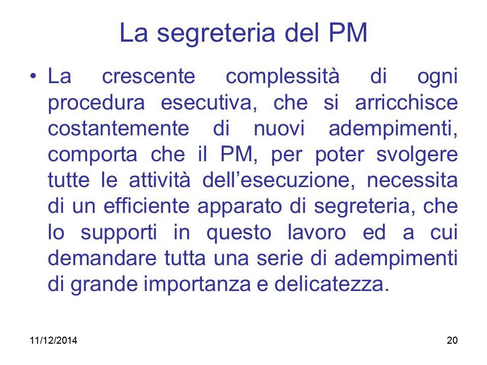 La segreteria del PM