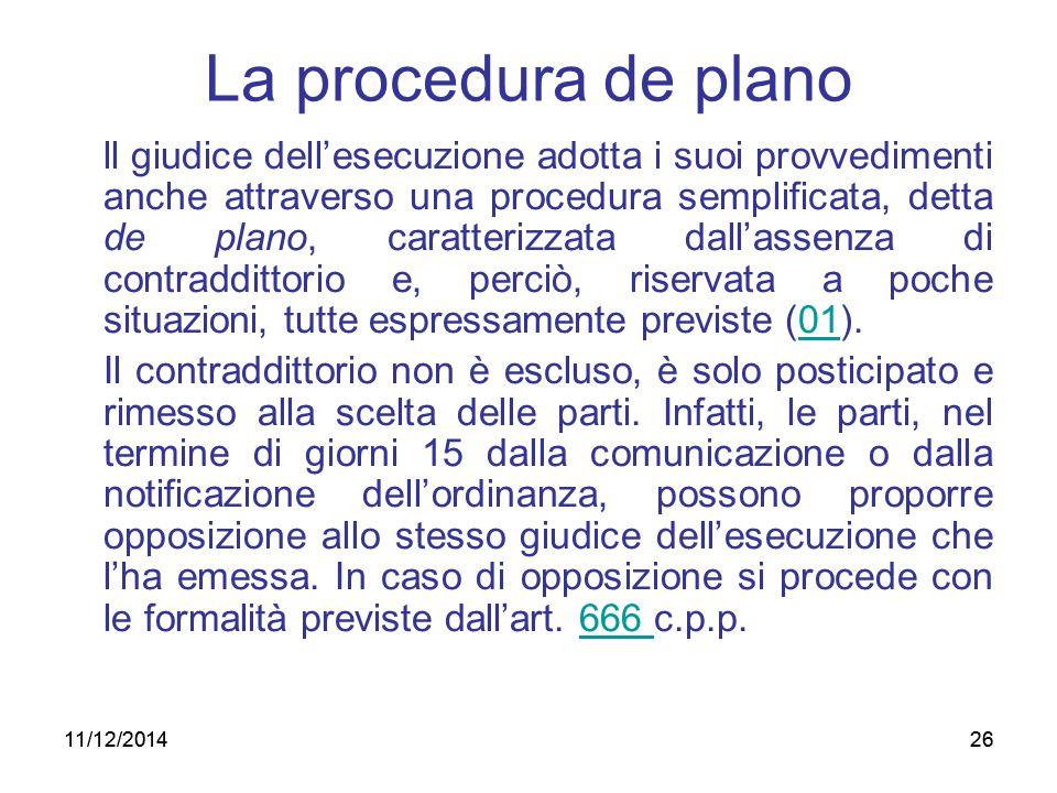 La procedura de plano