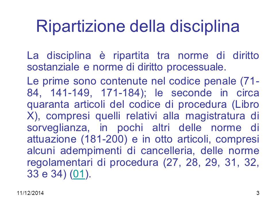 Ripartizione della disciplina